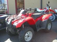 This atv is four wheel drive with power steering and