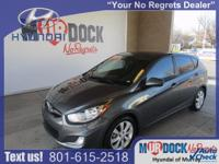 Gray 2012 Hyundai Accent SE FWD 6-Speed Automatic with