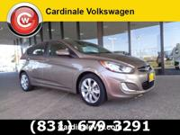 Clean CARFAX. Brown 2012 Hyundai Accent SE FWD 6-Speed