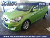 New Price! Electrolyte Green 2012 Hyundai Accent SE FWD