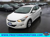 Options:  2012 Hyundai Elantra Gls|White|*Low Miles For