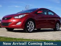 2012 Hyundai Elantra Limited in Red Allure, This