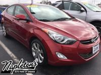 Recent Arrival! 2012 Hyundai Elantra in Red, USB,