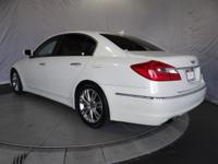 Options:  2012 Hyundai Genesis 3.8L|White Satin/|V6