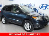 CARFAX One-Owner. Pacific Blue Pearl 2012 Hyundai Santa
