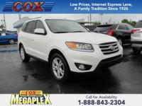 This 2012 Hyundai Santa Fe Limited in White is well