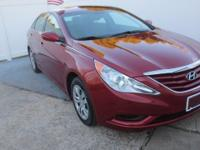CARFAX One-Owner. Red 2012 Hyundai Sonata GLS FWD