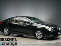 Black 2012 Hyundai Sonata GLS35/24 Highway/City MPG At