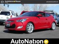 The Hyundai Veloster w/Red Int speaks volumes about