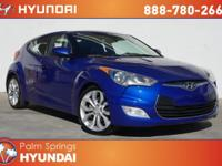 Clean CARFAX. Blue 2012 Hyundai Veloster FWD 6-Speed