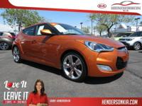 Options:  2012 Hyundai Veloster|Orange|Tech Package