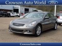 This 2012 Infiniti G37 Sedan comes equipped with