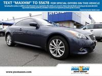 This outstanding example of a 2012 INFINITI G37 Coupe x