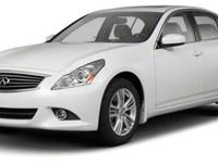 Experience driving perfection in the 2012 Infiniti G37!