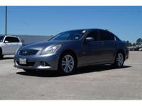We are excited to offer this 2012 INFINITI G37 Sedan.