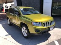 Clean CARFAX One Owner. Green 2012 Jeep Compass Sport