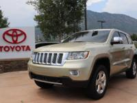 4WD. Clean CARFAX. White Gold 2012 Jeep Grand Cherokee