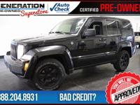 4D Sport Utility, Black, and 2012 Jeep Liberty. 4X4!