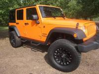 HEAD TURNER LIFTED, CUSTOM WHEELS AND TIRES ORANGE,