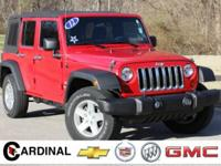 New Price! 2012 Jeep Wrangler Unlimited Sport Flame Red