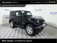 New Price! Black Clearcoat 2012 Jeep Wrangler Sahara
