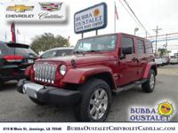2012 Jeep Wrangler Unlimited Sahara Deep Cherry Red