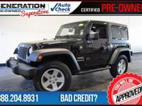 2D Sport Utility, 6-Speed Manual, Black, and 2012 Jeep
