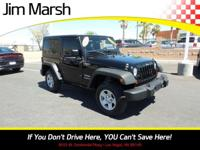 Jeep Wrangler Sport 4x4, 2012 one-owner vehicle with a