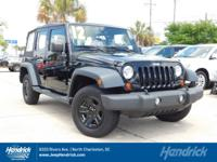 Black Clear Coat exterior. CARFAX 1-Owner, Jeep