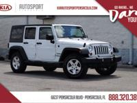 Clean CARFAX. Wrangler Unlimited Sport 4X4 HARD TOP, 4D