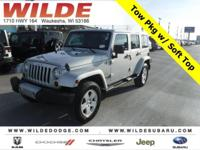 Options:  2012 Jeep Wrangler Unlimited Sahara|Bright