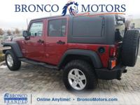 Red 2012 Jeep Wrangler Unlimited Sport 4WD 5-Speed