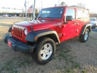 This is a great 2012 Wrangler Unlimited SUV Sport. Only