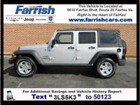 2012 Wrangler Unlimited Sport, Jeep Certified, 4D Sport