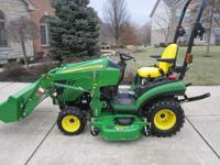 2012 John Deere 1026R 4x4 Tractor with quick attach JD