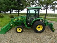 2012 John Deere 4720 Tractor with cab, loader blade 258