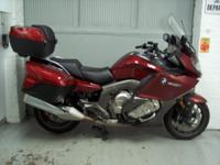 2012 BMW K1600GT, metallic red with only 18,238 miles.