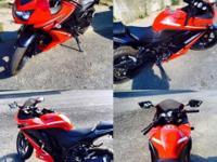 I have.. 2012 Kawasaki Ninja 250-R 650 Miles Red/Black