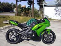 I currently have a 2012 Kawasaki Ninja 650 for sale.