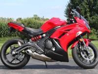 For sale is a fresh Kawasaki Ninja 650r. Only around