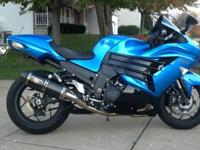 2012 ZX14R with full Yoshimura single exhaust, Zero