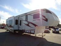 We are proud to present this 2012 Keystone Raptor 3912