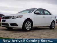 2012 Kia Forte EX in Clear White, This Forte comes with