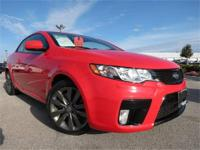 2012 Kia Forte SX, Racing Red with Black Leather