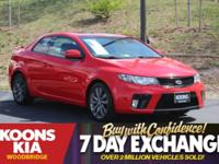 2012 Kia Forte Koup SX Racing Red **LEATHER SEATS**,