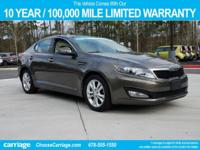 2012 Kia Optima EX in Metal Bronze, Comes with our 10
