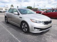 Clean CARFAX. 2012 Kia Optima Hybrid EX FWD 6-Speed