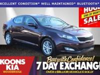 2012 Kia Optima LX Maroon **KEEP YOUR PAYMENTS LOW**.