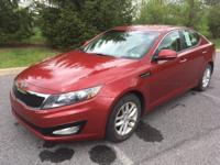 Clean CARFAX. Spicy Red 2012 Kia Optima LX FWD 6-Speed