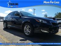 This 2012 Kia Optima LX in Ebony Black features: Clean